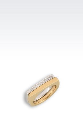 Armani Rings Women gold-plated silver ring with zirconia
