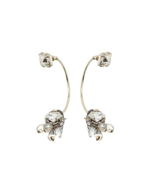 """lanvin """"cristal de roche"""" earring women"""