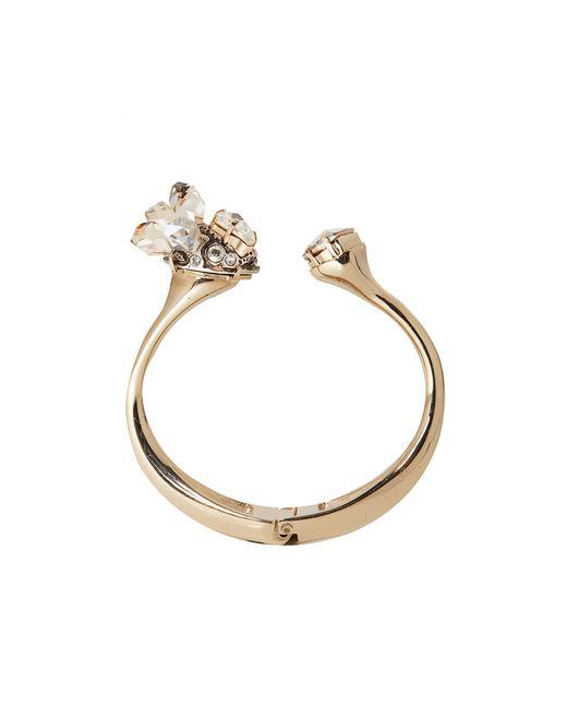 """lanvin """"cristal de roche"""" cuff bracelet women"""