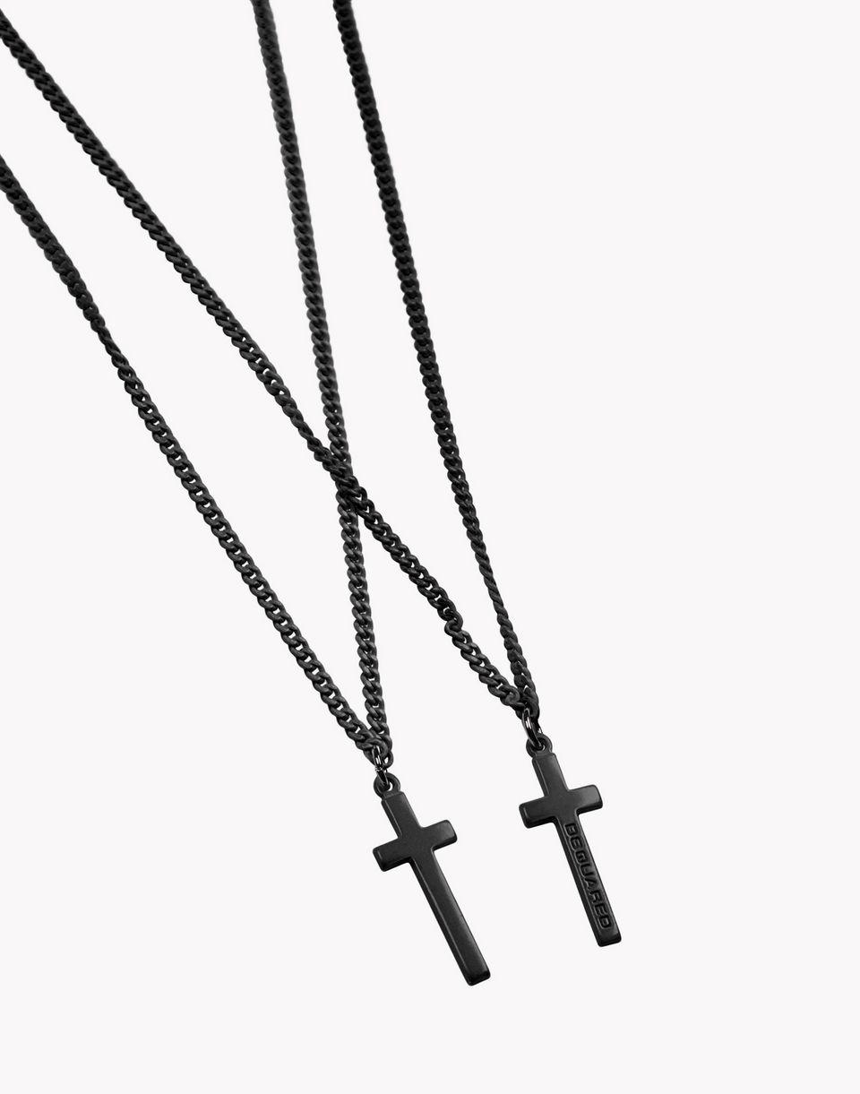 double cross necklace  schmuck Herren Dsquared2