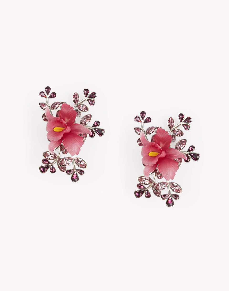 flower crystal embellished earrings schmuck Damen Dsquared2