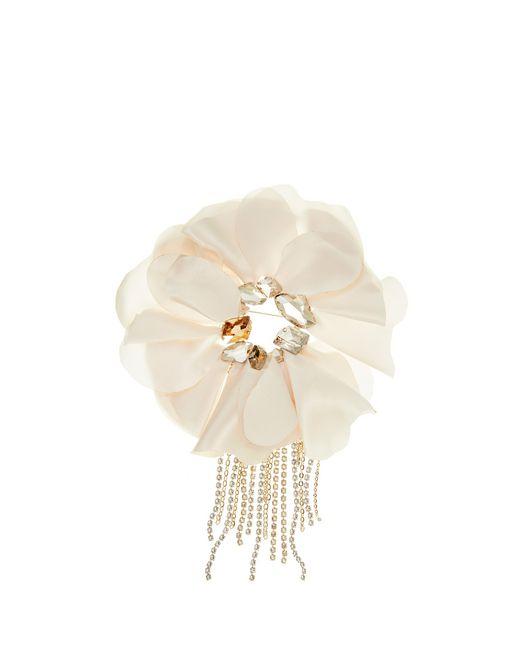 lanvin flower brooch women