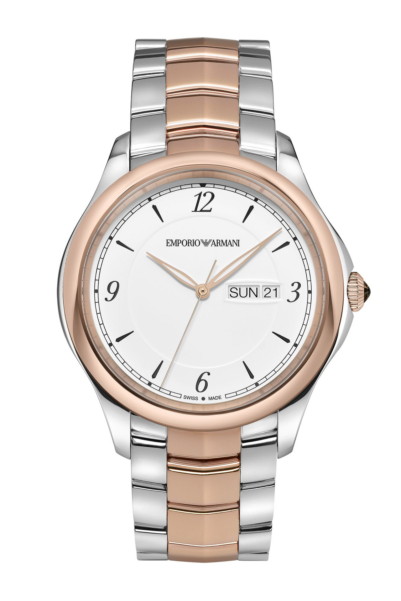 CLASSIC SWISS MADE STAINLESS STEEL WATCH: SWISS MADE WATCHES Men by Armani - 0