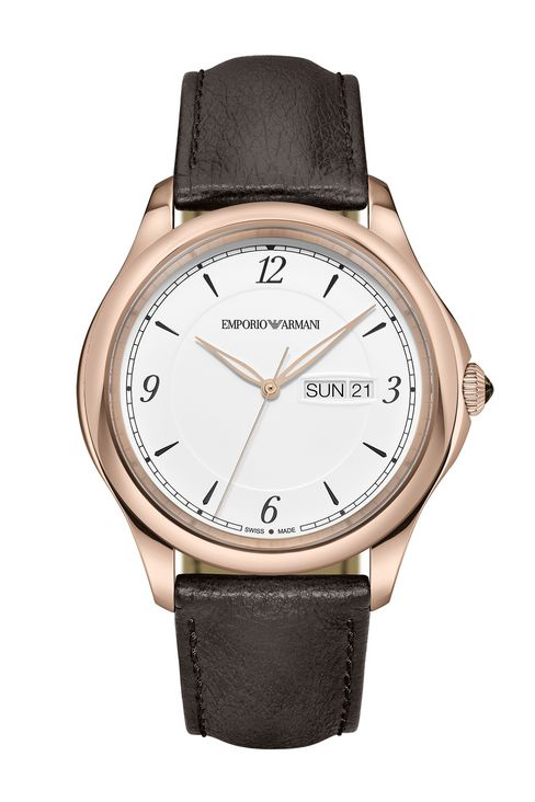 SWISS MADE WATCH WITH LEATHER STRAP: SWISS MADE WATCHES Men by Armani - 1