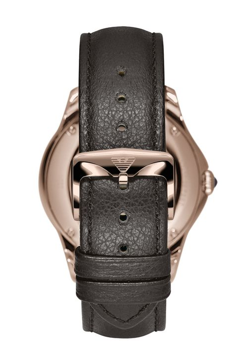 SWISS MADE WATCH WITH LEATHER STRAP: SWISS MADE WATCHES Men by Armani - 2