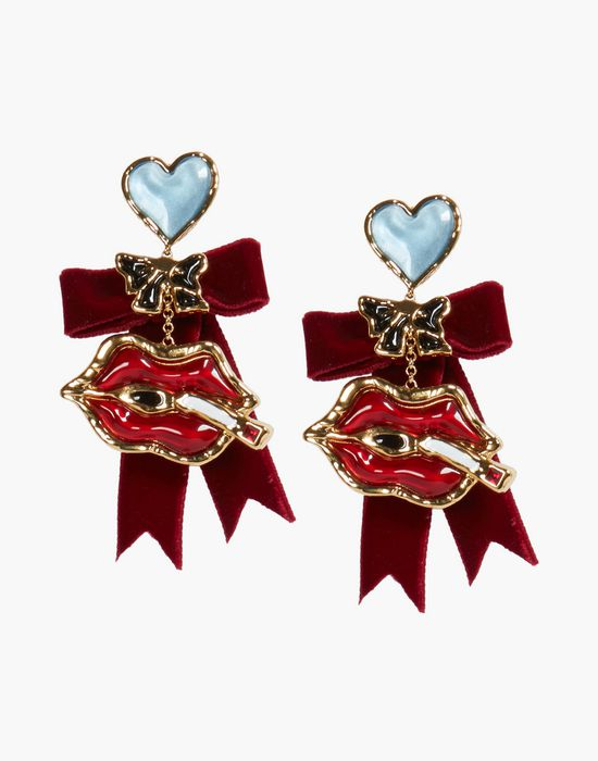velvet embellished earrings jewels Woman Dsquared2