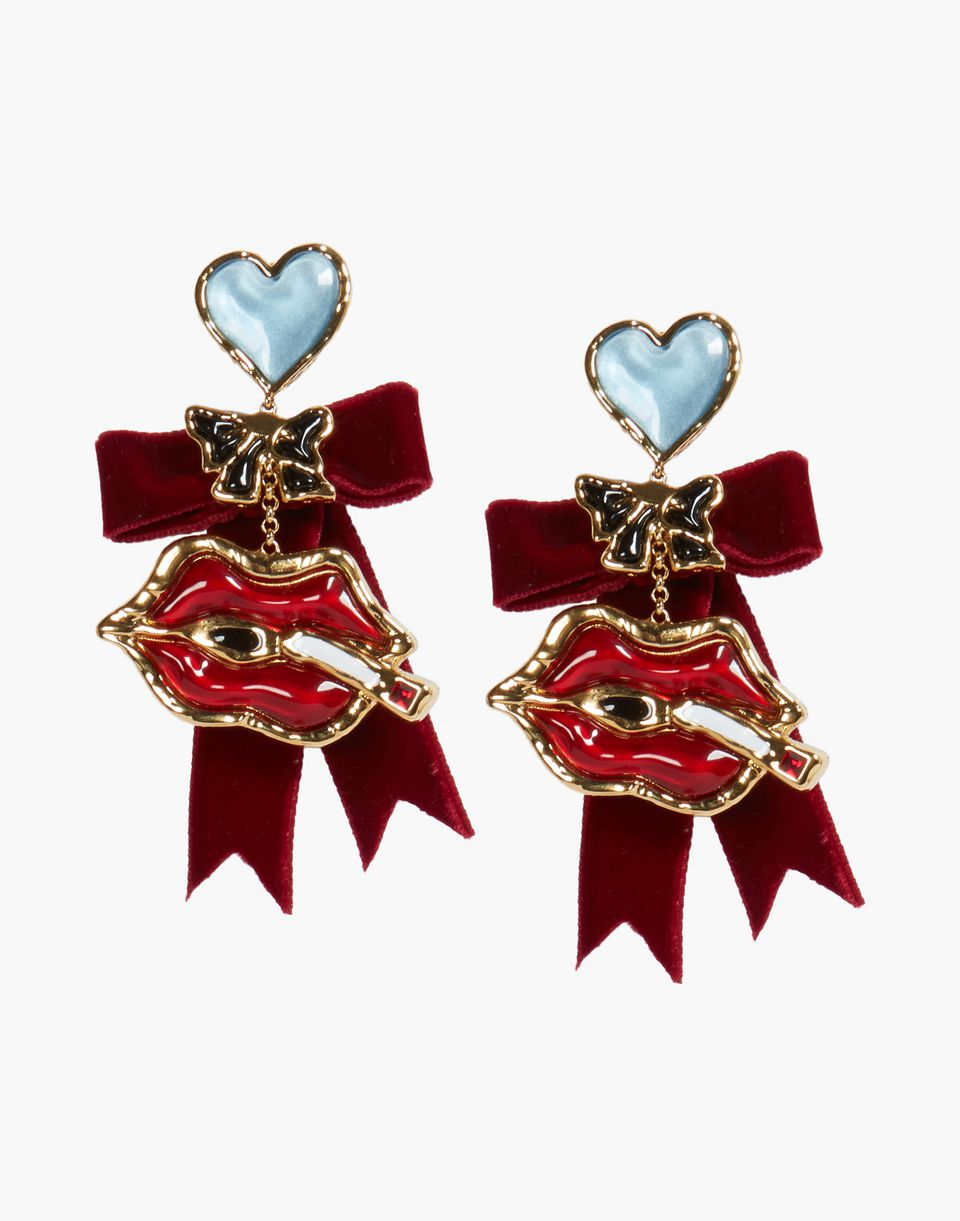 velvet embellished earrings schmuck Damen Dsquared2