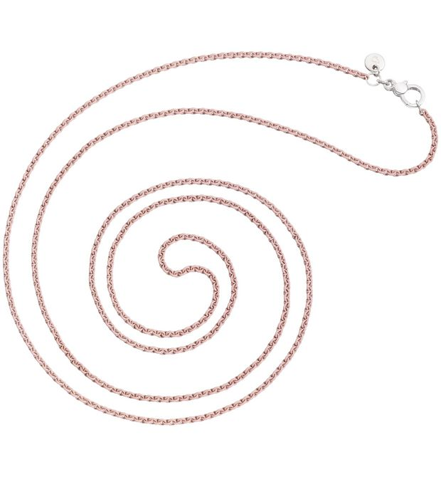 Sand-coloured silver necklace
