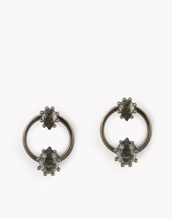 treasure hoop earrings bijoux Femme Dsquared2