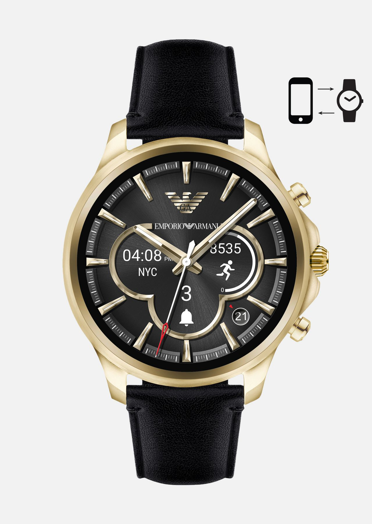 TOUCHSCREEN SMARTWATCH ART5004: Connected Men by Armani - 0