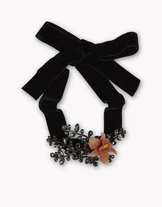 flower crystal embellished chocker bijoux Femme Dsquared2