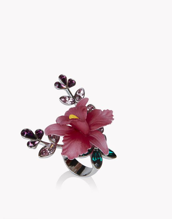 flower crystal embellished ring bijoux Femme Dsquared2
