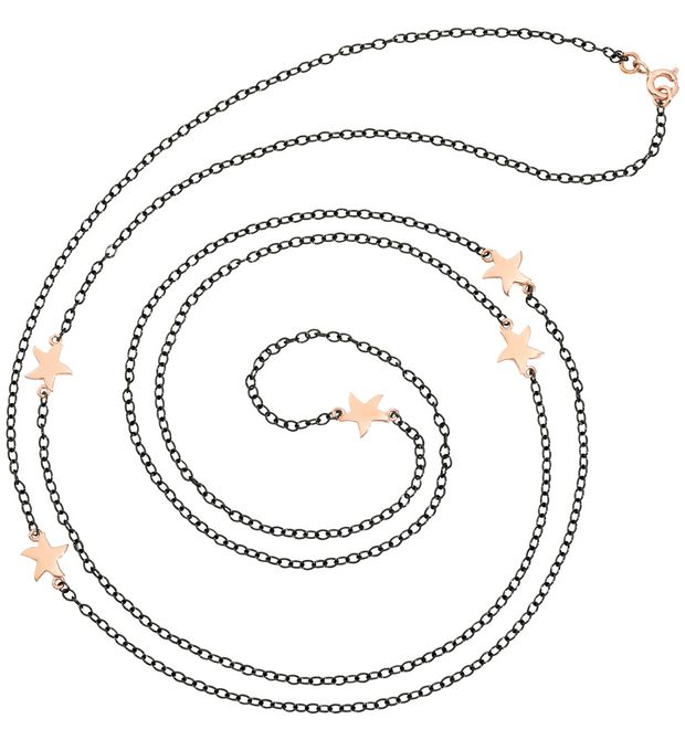 DODO Onesize necklace E Chaînette en or rose f