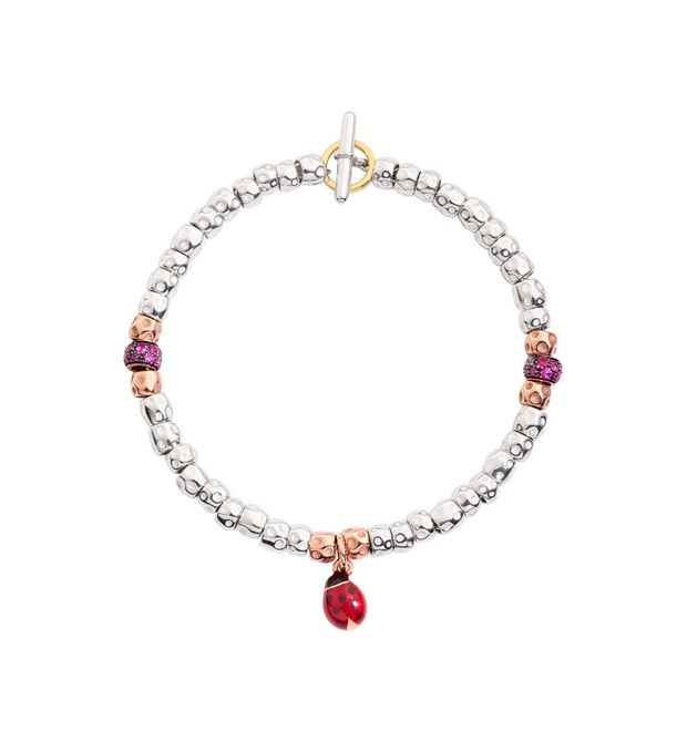 DODO Bracelet E BRACELET GRANELLI WITH LADYBUG AND LEAF   f