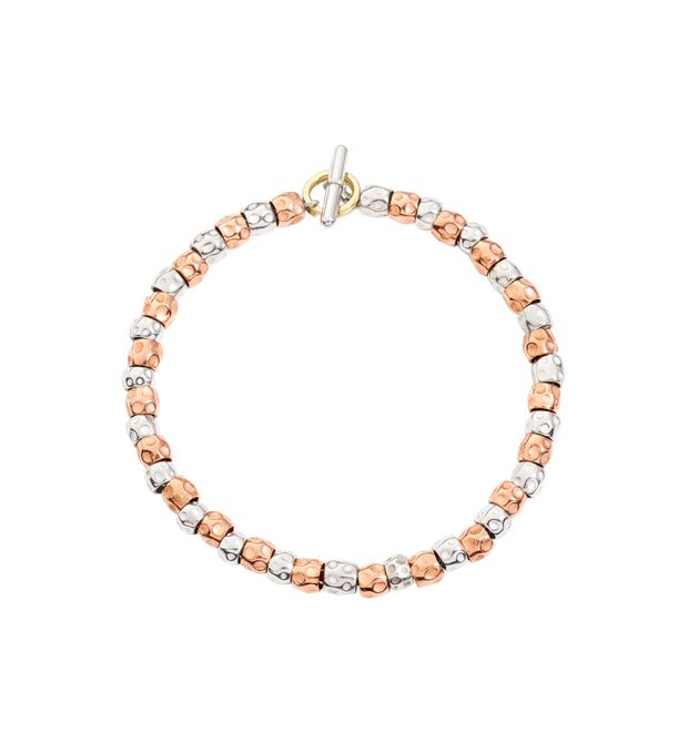 DODO Bracelet E Bracelet kit with silver and rose gold beads f