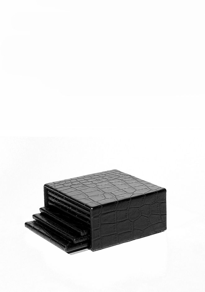 ALEXANDER WANG CROC EMBOSSED COASTER SET