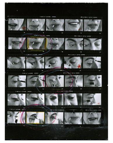 MAGNUM PHOTOS Magnum Contact Sheets & Eve Arnold Print Planche-contact mixte