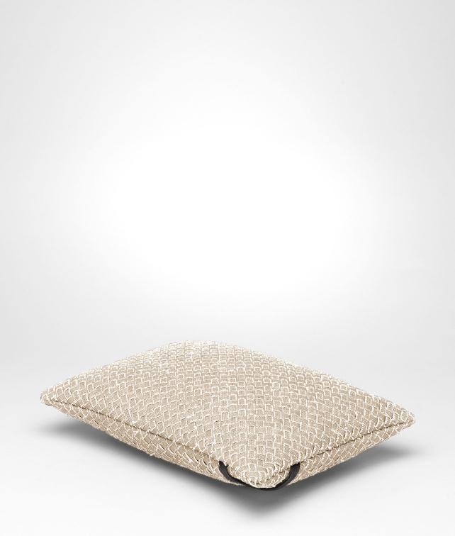 BOTTEGA VENETA Intrecciato Linen Rectangular Pillow Pillow and blanket E fp