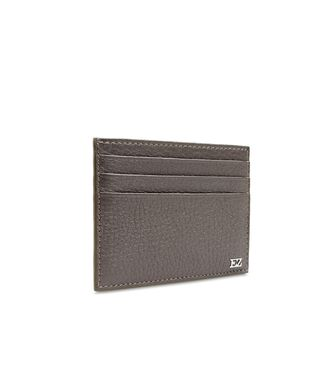 ERMENEGILDO ZEGNA: Credit Card Holder Grey - 51118175WK