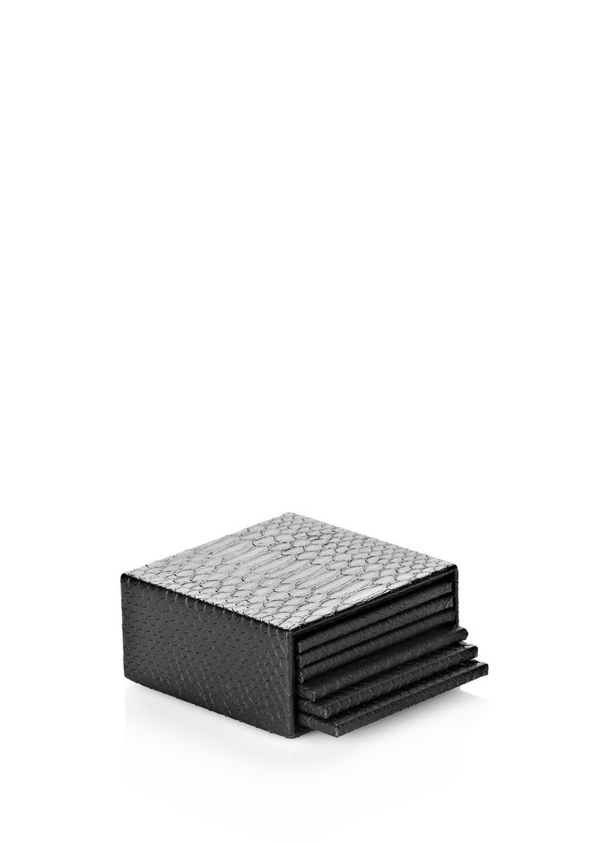 ALEXANDER WANG SNAKE EMBOSSED COASTER SET