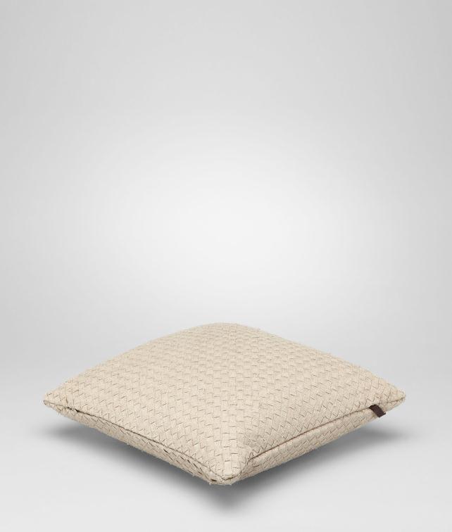 BOTTEGA VENETA Intrecciato Linen Square Pillow Pillow and blanket E fp