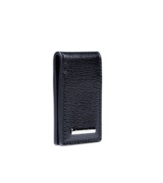 ERMENEGILDO ZEGNA: Business Card Holder Black - 51118518LP