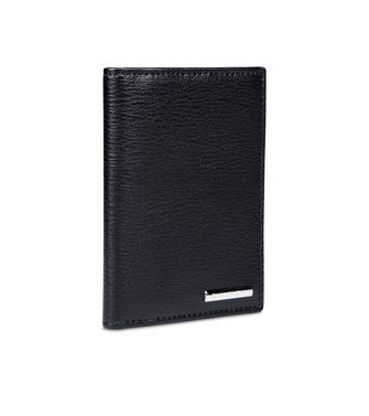 ERMENEGILDO ZEGNA: Business Card Holder Black - 51118520EU