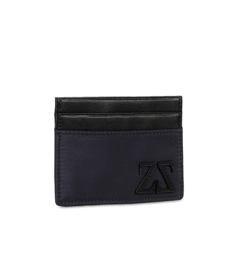 ZEGNA SPORT: Credit Card Holder Black - Blue - 51118570HC