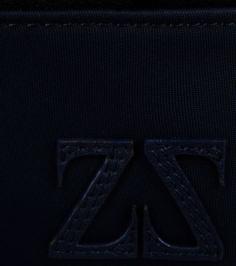 ZEGNA SPORT: Credit Card Holder Blue - Grey - 51118570QK