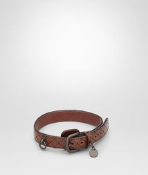 BOTTEGA VENETA - Living, Ebano Intreccio Scolpito Dog Collar