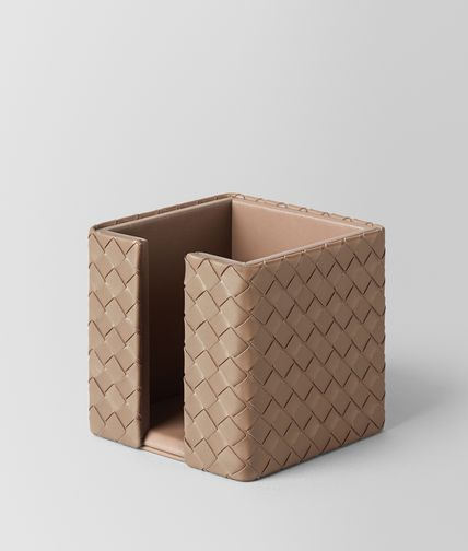 MEMO PAPER HOLDER IN ASH INTRECCIATO NAPPA