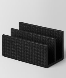 BOTTEGA VENETA - Living, Nero Intrecciato Nappa Paper Holder