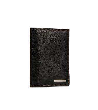 ERMENEGILDO ZEGNA: Business Card Holder Black - 51118615MQ