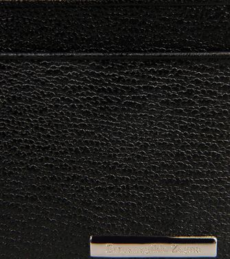 ERMENEGILDO ZEGNA: Credit Card Holder Black - 51118616LI