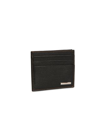 ERMENEGILDO ZEGNA: Credit Card Holder Black - Blue - 51118616LI