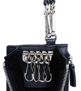 ERMENEGILDO ZEGNA: Key ring Black - 51118625VL