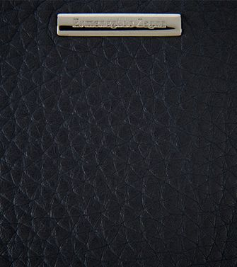 ERMENEGILDO ZEGNA: Digital case Black - Blue - 51118637NR