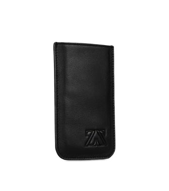 ZEGNA SPORT: Leather cases & covers Black - Blue - 51118664LA