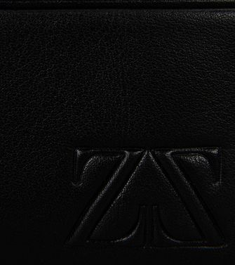 ZEGNA SPORT: Credit Card Holder Black - Blue - 51118665OS