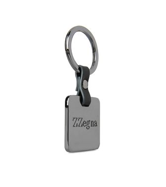 ZZEGNA: Key ring Black - 51118677UO