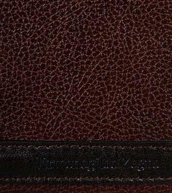 ERMENEGILDO ZEGNA: Business Card Holder Dark brown - 51118734LU