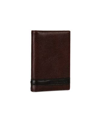 ERMENEGILDO ZEGNA: Business Card Holder Grey - 51118734LU