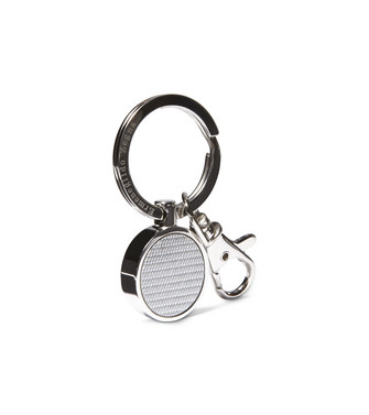 ERMENEGILDO ZEGNA: Key ring Steel grey - 51118738MF