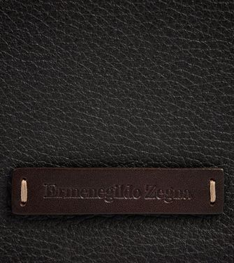 ERMENEGILDO ZEGNA: Digital case Dark brown - 51118912TK