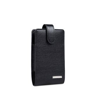 ERMENEGILDO ZEGNA: Digital case Black - Blue - 51118913WK