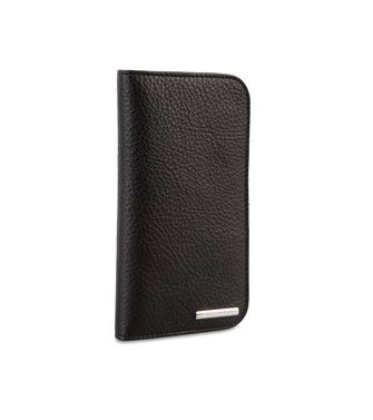 ERMENEGILDO ZEGNA: Digital case Black - Blue - 51118951NQ