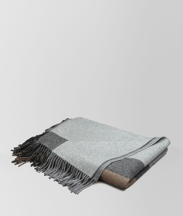 BOTTEGA VENETA BLANKET IN ANTHRACITE BLACK CASHMERE Pillow and blanket E fp