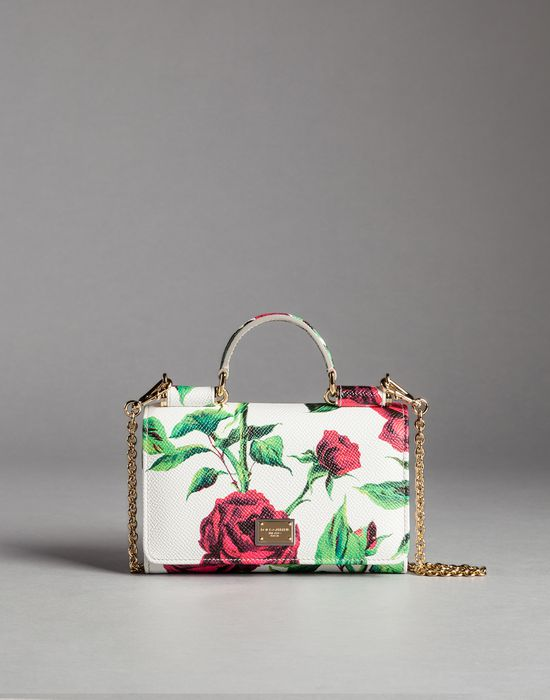 ROSE PRINT CALFSKIN MINI VON BAG