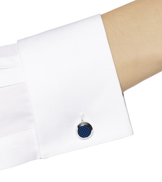 ERMENEGILDO ZEGNA: Boutons De Manchettes Bleu - 51120901RF
