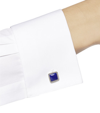 ERMENEGILDO ZEGNA: Boutons De Manchettes Bleu électrique - 51120904LH